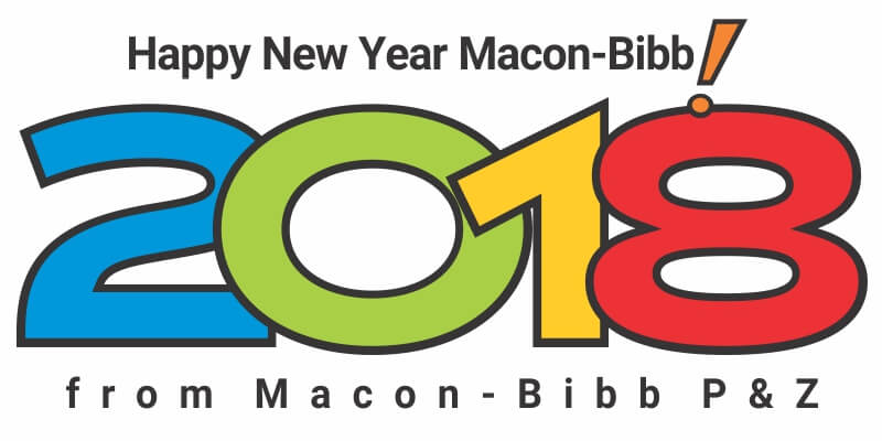2018 Macon-Bibb New Year Holiday Schedule graphic