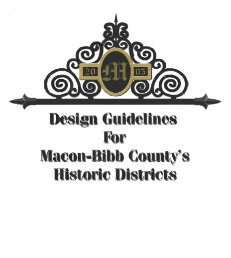 Design Guidelines for Macon-Bibb County's Historic Districts coverpage
